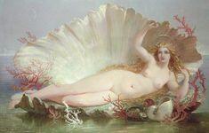"☁️ on Instagram: ""The Birth of Venus, 1852, by Henry Courtney Selous"" Aphrodite Painting, Venus Painting, Oil Painting Abstract, Painting Trees, Painting People, Oil Paintings, Painting Art, Walter Crane, Gustav Klimt"