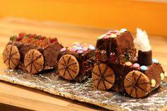 Geburtstagskuchen: Lokomotive   Essen auf den Tisch