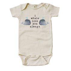 Organic I Whale Love You Always Onesie by MiniAndMeep on Etsy