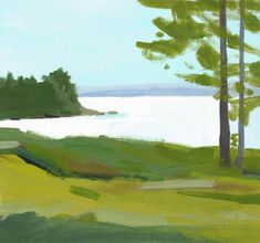 Richmond's images are done both in plein air and studio. Painted using gouache, these scenes capture the light and colors of a specific time and place. Art Academy Of Cincinnati, Painters Studio, West Coast Of Ireland, Lake Painting, Street Gallery, Landscape Art, Art Inspo, Printmaking, Fine Art