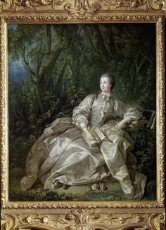 Madame de Pompadour dans les jardins. François Boucher 1758