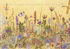 Art Print on Fabric Pressed Flower Art by mypetalpress on Etsy