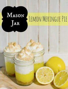 Mason jar pie