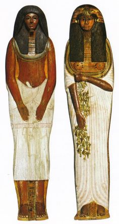 The nobles Sennedjem, Servant in the House of Truth, and Chief decorator of the House of Eternity (tomb) of Seti I,  and his wife Iineferty, Mistress of the House (Nebt-Het, or homemaker)- Thebes tomb of Sennedjem, (TT1). 19th dynasty, ancient Egypt. Cairo Egyptian museum.