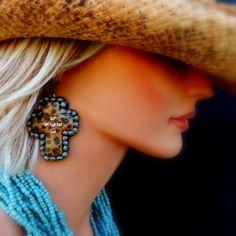 Hombre Cheetah Cross Earrings by JewlzJunkieTX on Etsy, $26.00