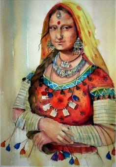 Mona Lisa....Rajasthani bann thann ke!