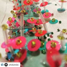 #Repost @chikimiki with @repostapp. ・・・ Excited for the arrival of @cristina_peral !!  It's an embellished celebration, and we're ready for the con-sequinses! #chikimiki #beading #sequins #fashion #embellished #punny