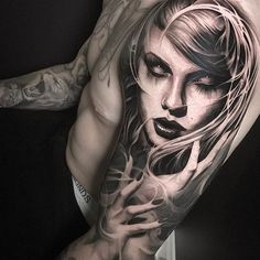 Tattoo by artist @benthomasart #blackandgrey #blackandgray #inksav