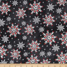 Chalkboard Christmas Snow Flakes Multi from @fabricdotcom  Designed by Melissa Ybarra for Windham Fabrics, this cotton print is perfect for quilting, apparel and home decor accents.  Colors include soft black, red, white and grey.
