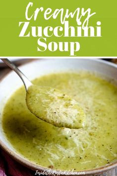 Creamy Italian Potato and Zucchini Soup – An easy soup that's comforting, warming and packed full of flavour. Healthy, delicious and easy comfort food the whole family will love. Soup Recipes, Vegetarian Recipes, Cooking Recipes, Recipes Dinner, Recipies, Healthy Recipes, Creamy Zucchini Soup, Zuchinni Soup, Courgette Soup Recipe