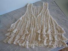 Ponto Preso1: Croche - Um COLETINHO em Barbante nº 4 (3 fios)