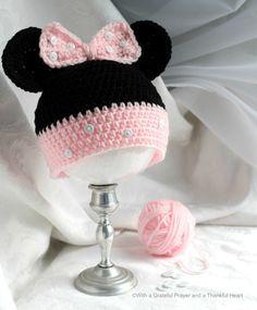 New Crochet Amigurumi Free Patterns Disney Repeat Crafter Me Ideas Crochet Kids Hats, Crochet Amigurumi Free Patterns, Crochet Baby Clothes, Crochet Beanie, Free Crochet, Crochet Animal Hats, Crochet Headbands, Crochet Dolls, Crochet Minnie Mouse Hat