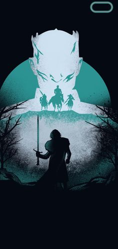 Game Of Thrones Jon Snow Night King Dragon Silk Poster Wallpaper 24 X 13 inches