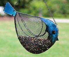 Bird-shaped birdfeeder! Available at Duncraft