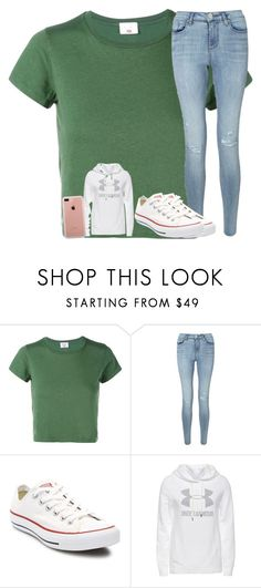 """""""Untitled #2570"""" by laurenatria11 ❤ liked on Polyvore featuring RE/DONE, Miss Selfridge, Converse, Under Armour and Belkin"""