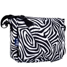 Wildkin Zebra Kickstart Messenger Bag   - Click image twice for more info - See a larger selection of kids messenger bag at http://kidsbackpackstore.com/product-category/kids-messenger-bags/ - kids, juniors, back to school, kids fashion ideas, school supplies, backpack, bag , teenagers,  boys, girls  gift ideas,school bag,