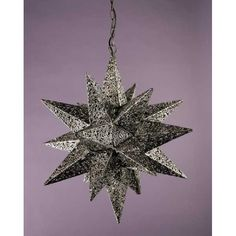 Silver Star Pendant Light