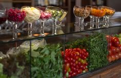 Chic salad buffet - love the toppings!