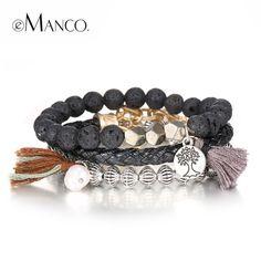 Multi-layer bead bracelet