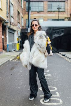 A Fashion Week Approved Way To Wear An Oversized Suit