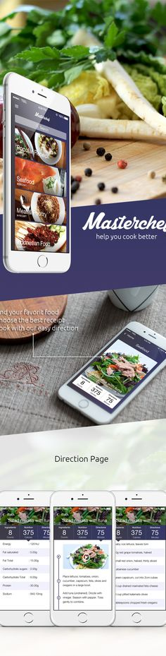 Masterchef Cooking App on Behance