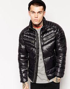 Diesel Shiny Down Jacket Male Model Fashion Hot Sexy Guy Eye Candy Cool Jackets, Winter Jackets, Fashion Models, Mens Fashion, Pvc Raincoat, Stephen James, Black Down, Windbreaker Jacket, Sexy Men