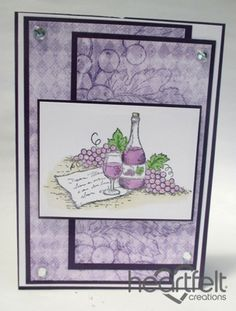 Heartfelt Creations | Lavender Wine And Grapes