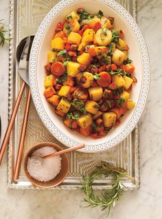 Photo Braised Vegetables and Chorizo Healthy Chicken Pot Pie, Healthy Pasta Recipes, Healthy Pastas, Healthy Meals For Kids, Cooking Recipes, Healthy Food, Vegetable Sides, Vegetable Side Dishes, Chorizo
