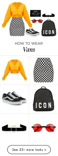 """""""Untitled #429"""" by amandapanda041 on Polyvore featuring Vans, Dsquared2 and Anissa Kermiche #fitnessoutfit"""