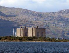 Trawsfynydd nuclear power station.