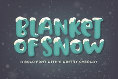Blanket of Snow is a wide, bold font packed with personality. It can be used alone, or with the overlay version placed on top for a snow-capped effect. Blanket of Snow Font can be used for