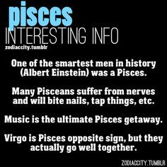 Hmmmm nail biting is my little Pisces bad habit.  But surprisingly not one of mine