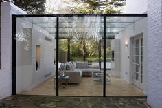 Glass box extension on residential property by IQ Glass