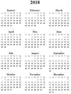 Image result for 2018 calendar template