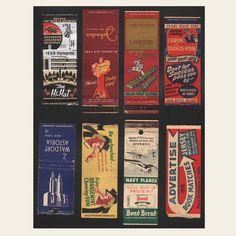 (8) 1930s / 1940s Matchbook Covers (E)   OldBrochures.com