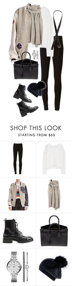 """Untitled #788"" by minhie-inspiration ❤ liked on Polyvore featuring Paige Denim, Helmut Lang, Opening Ceremony, Alexander Wang, Yves Saint Laurent, FOSSIL, Black and H&M"