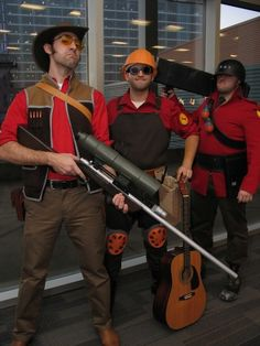 Reliable Excavation Demolition's Team Fortress 2 cosplay...where's Medic and Scout?