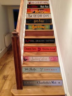 Amazing Karndean project - Book staircase, so clever! Karndean flooring #karndean, #vinyl floor