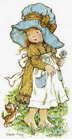 Nowadays, Sarah Kay is known all over the world. The overwhelming success of her designs may be due to the fact that they remind people of their own childhood. Sarah Key, Holly Hobbie, Illustrations, Illustration Art, Decoupage, Hobbies To Try, Hobby Horse, Vintage Pictures, Paper Dolls