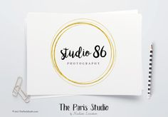 Instant Download Gold Foil Circle PSD Logo - photography branding, boutique logo, restaurant logo, creative business branding or small business logo.