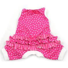 Pink Itty Bitty Dots Ruffled Pajamas