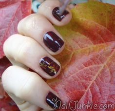 Beautiful fall nail art with Konad Autumn Nails, Fall Nail Art, Cute Nails, Pretty Nails, Mani Pedi, Manicure, Thanksgiving Nail Art, Salon Style, Fabulous Nails