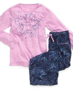 Calvin Klein Kids Pajamas, Girls 2-Piece PJs