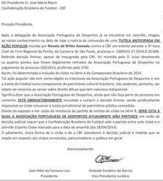"""Portal Esporte São José do Sabugi: NOVELA SEM FIM: Portuguesa """"descobre"""" liminar, vol..."""