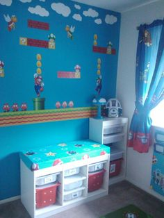 This was my son's Mario Room...he has since outgrown this particular theme