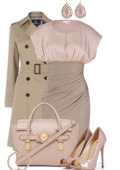 Nude pastel elegant dress