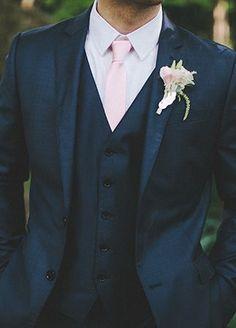 An Old Hollywood Meets Great Gatsby Wedding - Groom and Groomsmen Wedding Attire