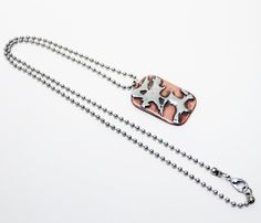 Handmade Copper Silver Solder Pendant necklace by BellozziDesigns