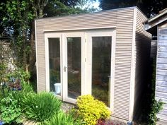 We specialise in the custom design of high quality garden buildings: garden offices, garden rooms, office pods, posh sheds, summerhouses & more. Contemporary Garden, Contemporary Design, Small Garden Office, Posh Sheds, Garden Log Cabins, Office Pods, Roof Overhang, Garden Studio, Garden Buildings