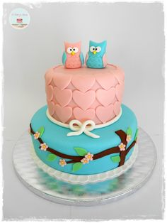 Owls Cake - awesome cake for a baby shower